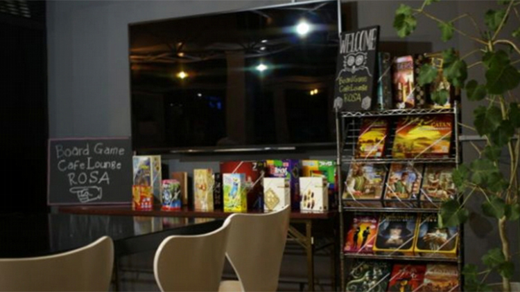 Board Game Cafe Lounge ROSAの内観です。
