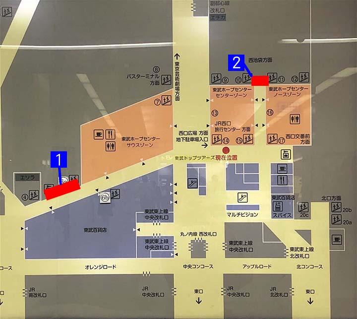ホープセンターコインロッカー地図