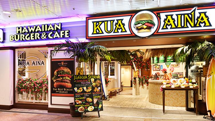 KUA'AINA 池袋サンシャインシティ店の内観です。