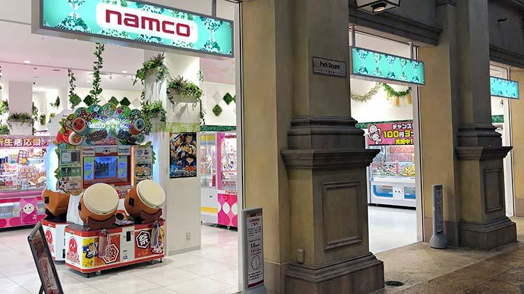 namco ヴィーナスフォート店の外観です。