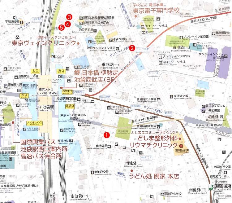 池袋駅コインロッカー地図