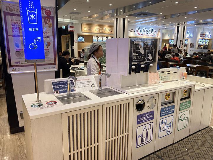 東京グルメスタジアムの給水所