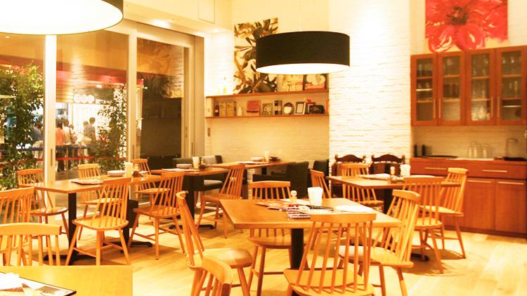Pizzeria D'oro Roma 台場店の内観です。