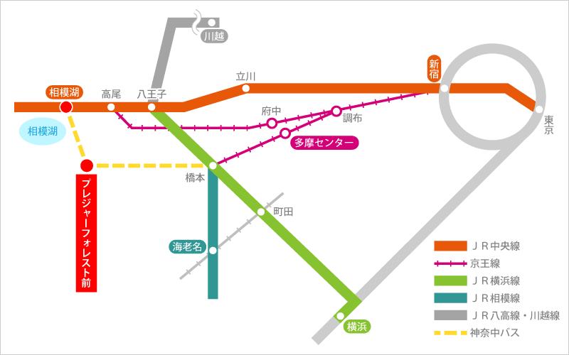 プレジャーフォレスト-電車マップ