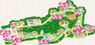 リトルワールド 園内マップ