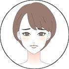 困り顔の女性