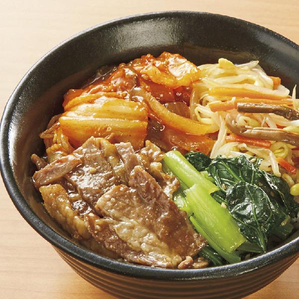 混ぜて食べる!9種野菜の焼肉ビビンバ