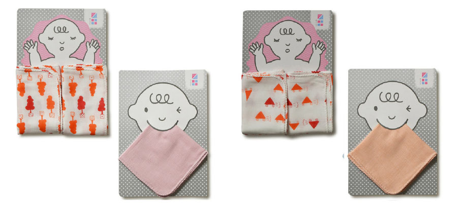 めんぷます田の赤ちゃんガーゼ 沐浴+ハンカチセット