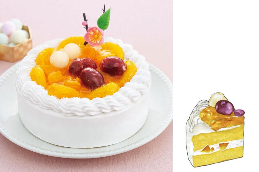 ひなまつり 米粉と豆乳クリームのケーキ