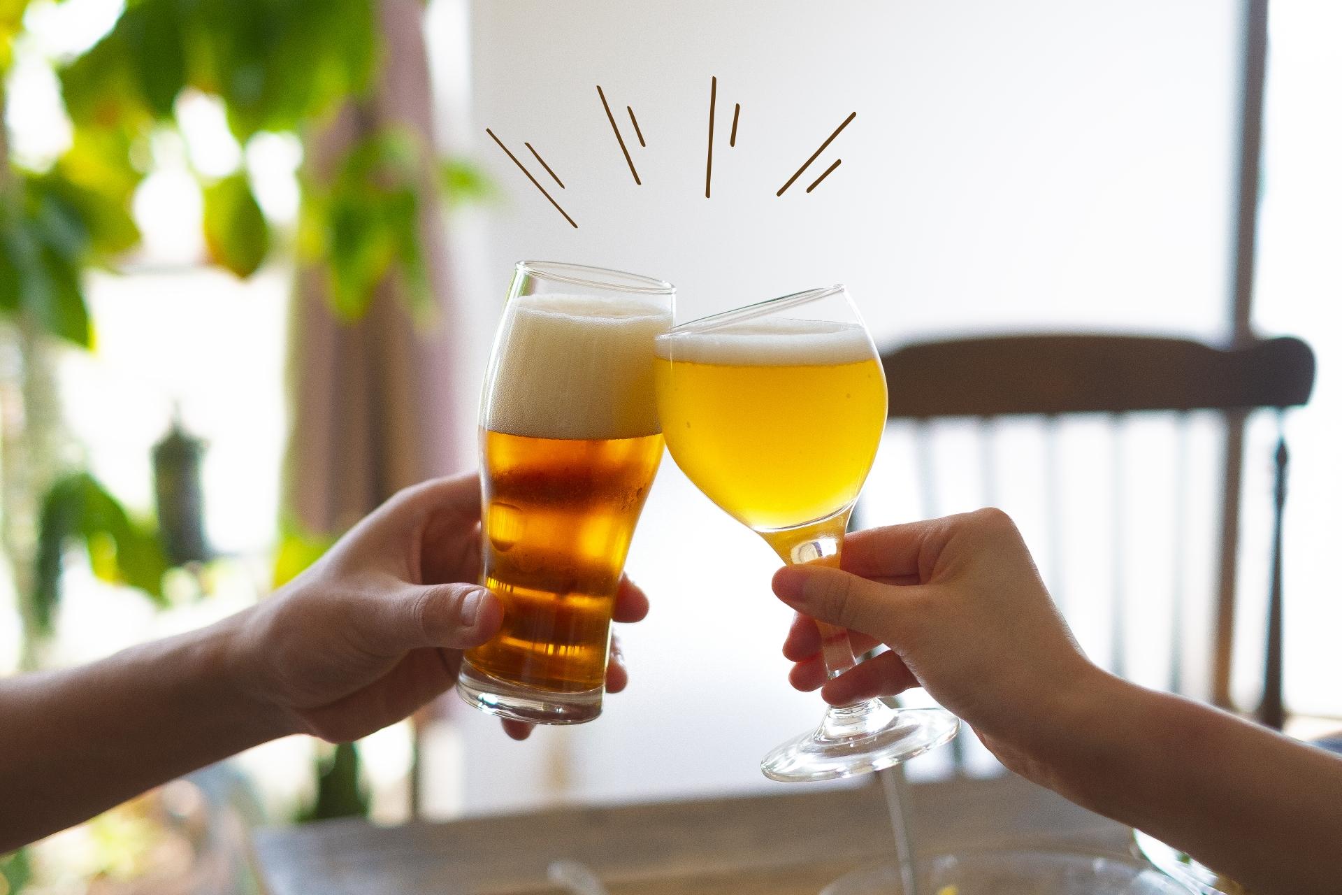 家飲みで乾杯