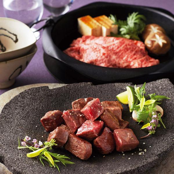 「岡山 哲多和牛牧場」 千屋牛A-5熟成すき焼用・ひと口ステーキ用