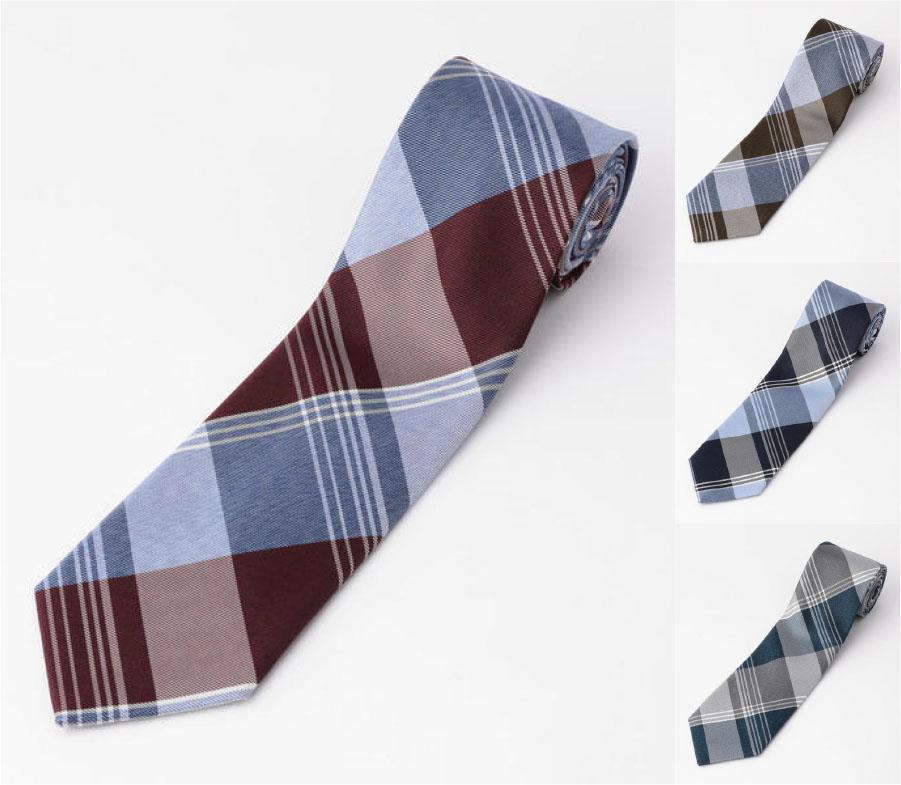 「アールダム」日本製 チェック柄ネクタイ