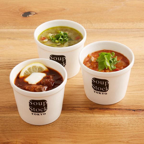「Soup Stock Tokyo」野菜3種のスープセット