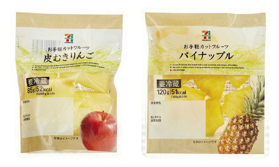 セブンプレミアム カットフルーツ(りんご・パイナップル)