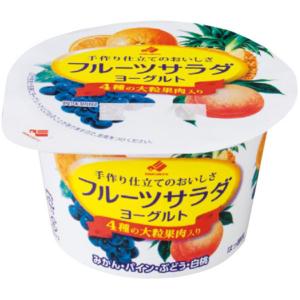 北海道乳業 フルーツサラダヨーグルト 130g
