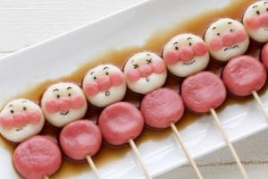 かわいい!キャラ白玉団子おやつアレンジ集。基本の作り方&豆腐入りも