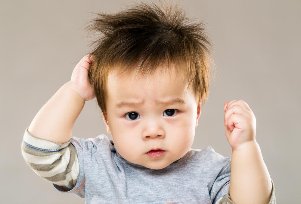 赤ちゃんの髪の毛