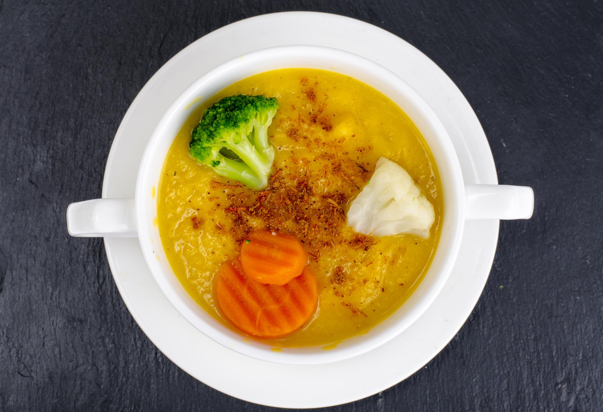 かぼちゃとブロッコリーのスープ