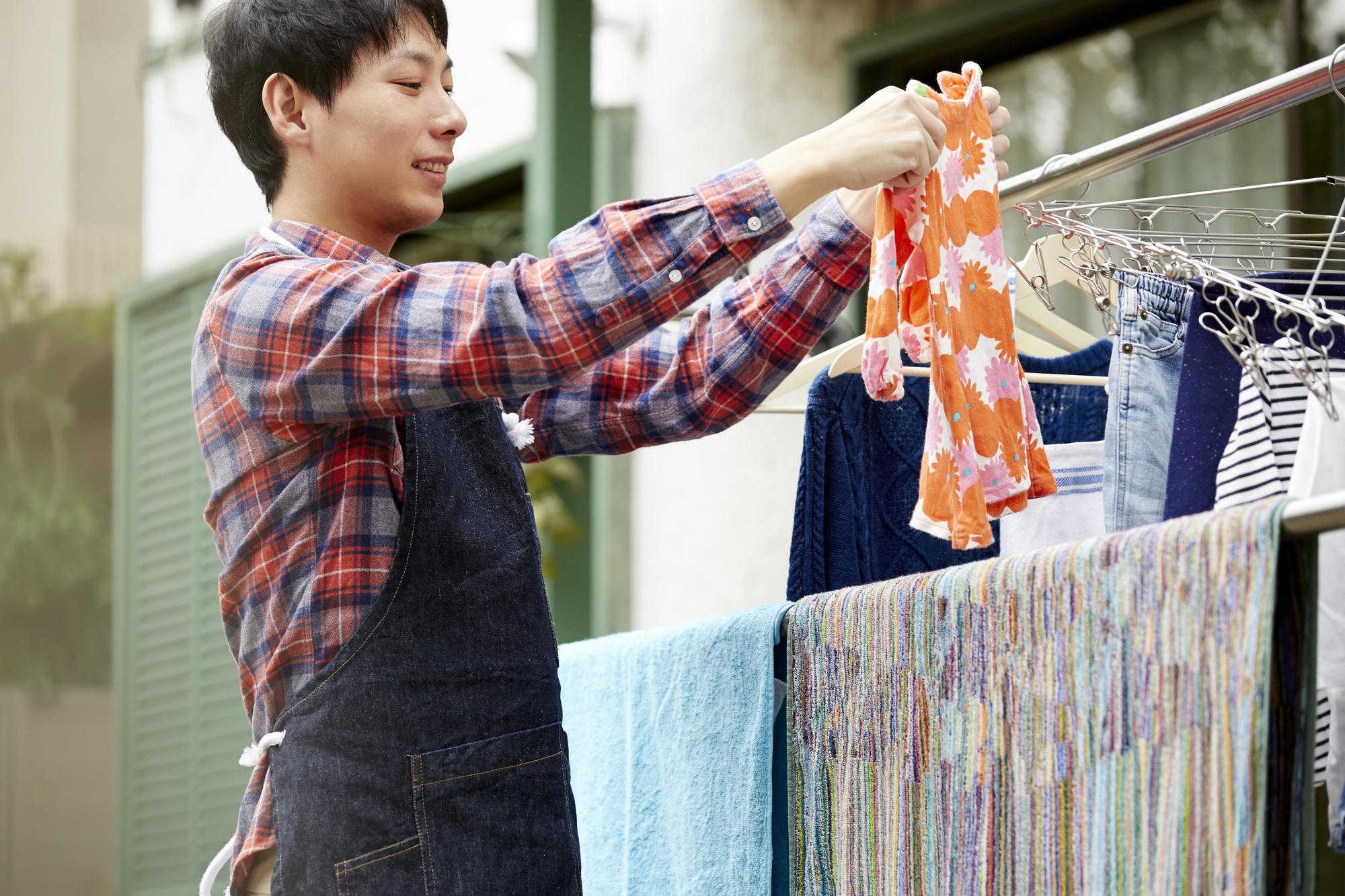 洗濯物をかける
