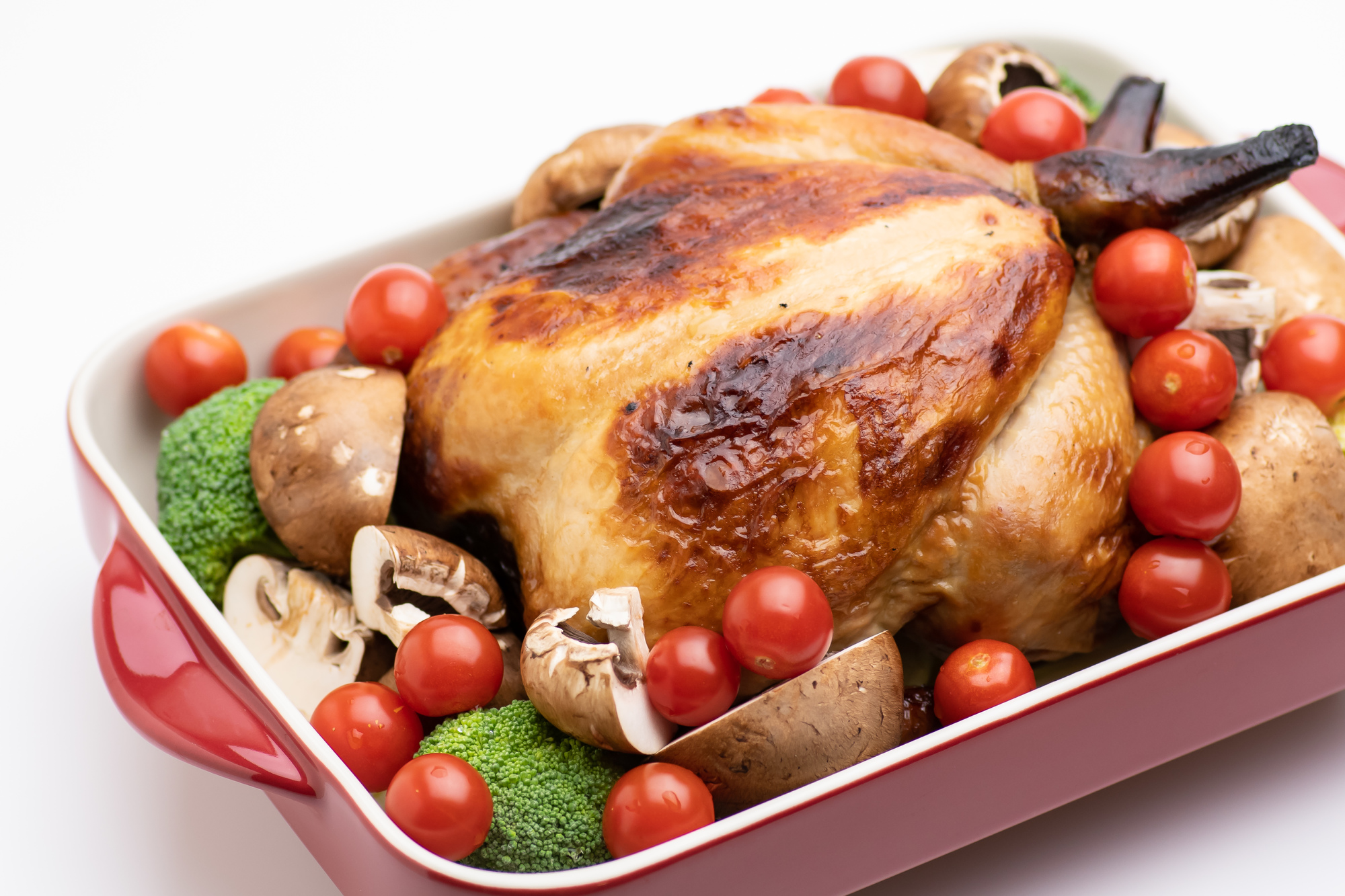丸鶏のオーブン焼き