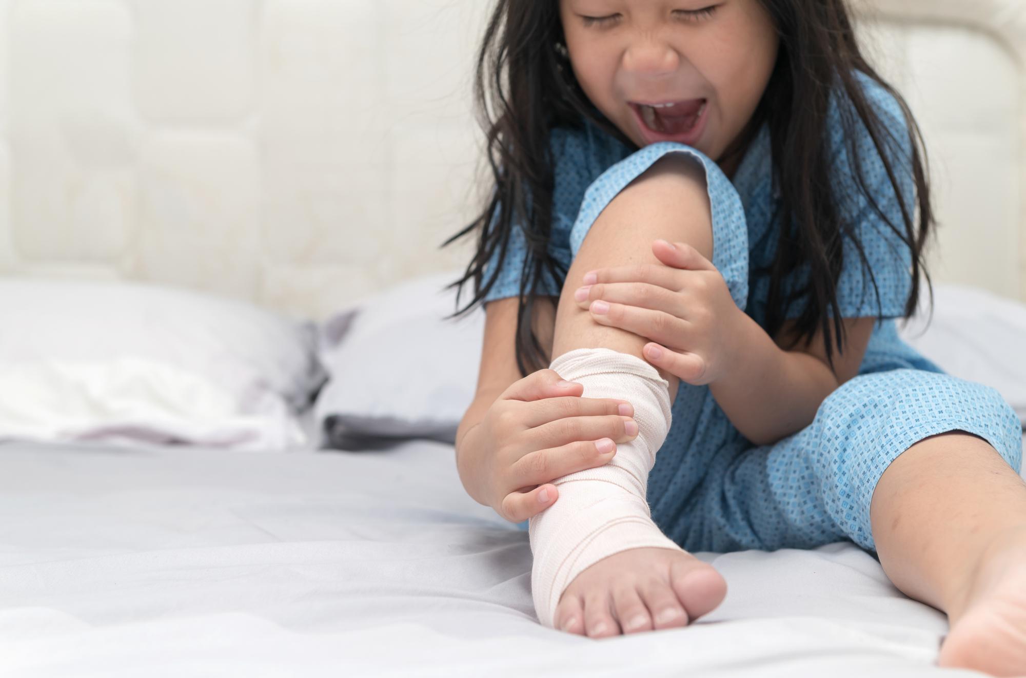 足が痛い子ども