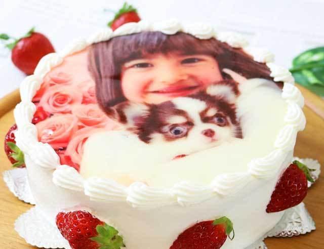 子どもの写真ケーキ