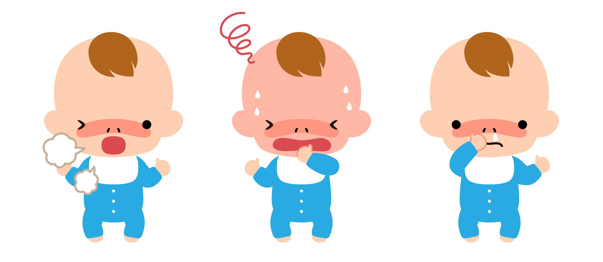 rsウイルスに感染した赤ちゃん