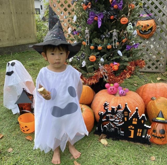 Yukari Sugimotoさんのお子さんのハロウィン仮装