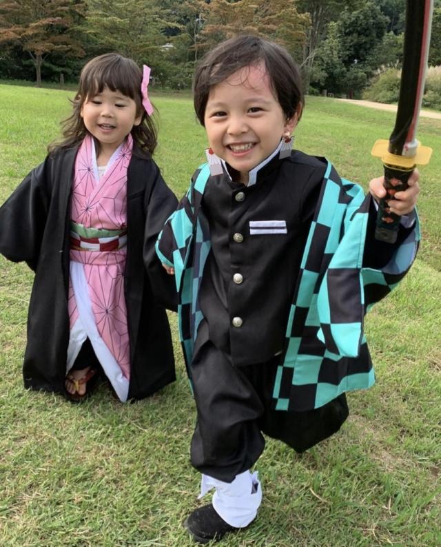 satsukiさんのお子さんのハロウィン仮装