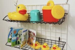 お風呂のおもちゃ収納案 100均やマグネット・ネット活用!カビ対策も!