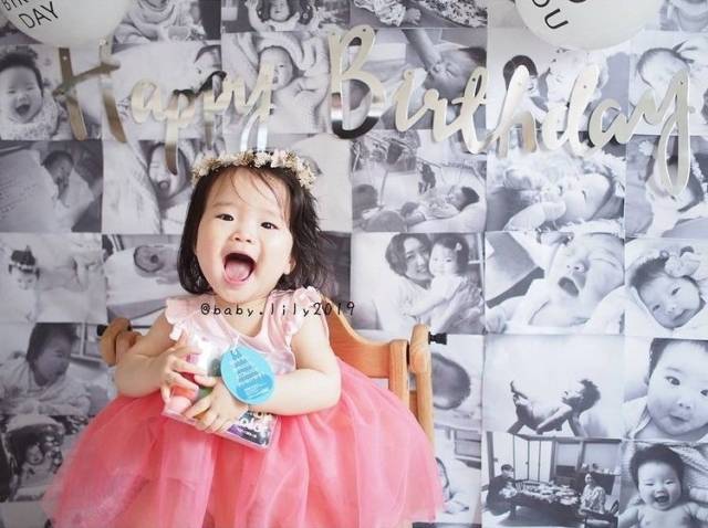 baby.lily2019さんの1歳誕生日飾り付け