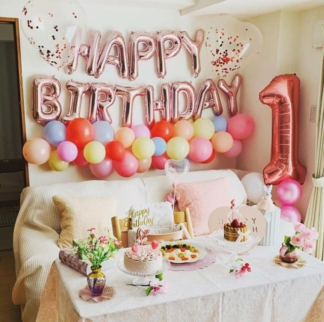 risa_mammaさんの1歳誕生日飾り付け