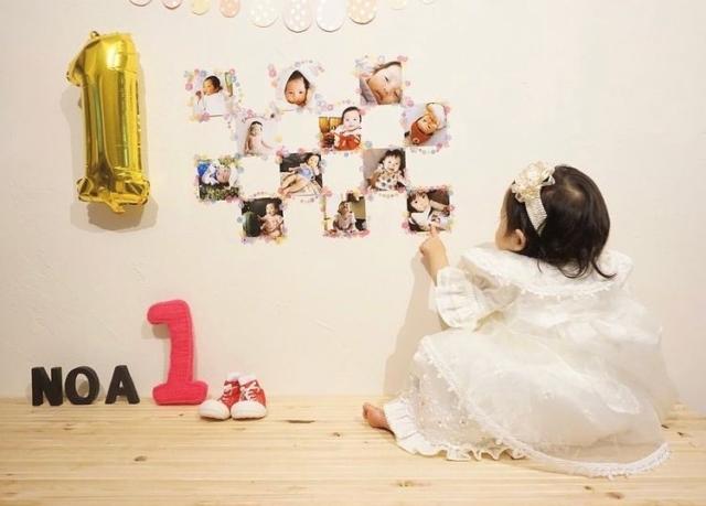 uka___236さんの1歳誕生日飾り付け