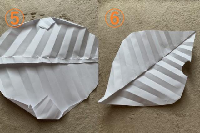 葉っぱの折り方