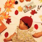 寝相アート【秋】紅葉・お月見・ハロウィンも!簡単に真似できるアイデア集