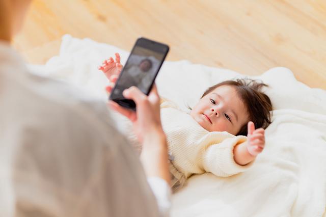 スマホカメラで赤ちゃんを撮る