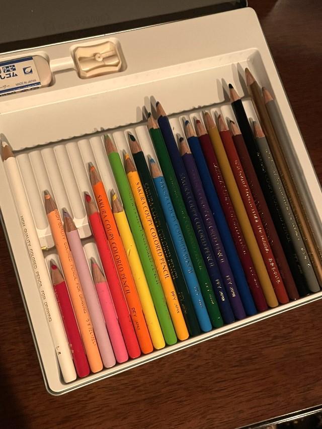 kuridechuさんの子どもの色鉛筆