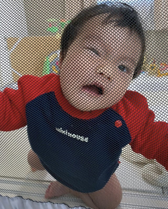 tm.a.love0416さんの赤ちゃん変顔