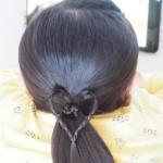 【簡単】ハート型♡かわいい子どもの髪型アレンジ集。登園・登校ヘアにもおすすめ