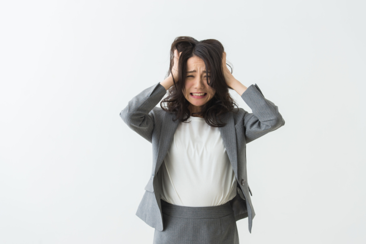 ストレスが限界に達した時に出る症状