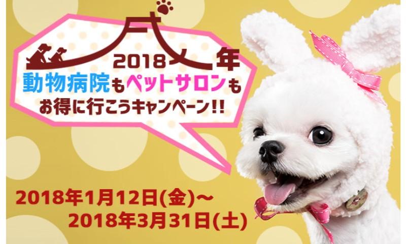2018年戌年 動物病院もペットサロンもお得に行こうキャンペーン
