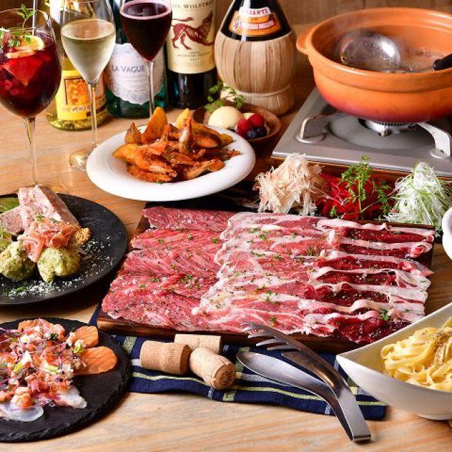 スパークリングワインと熟成肉のイタリアン ボノ セコンド